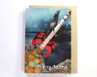 To Boldly Crow Greetings Card