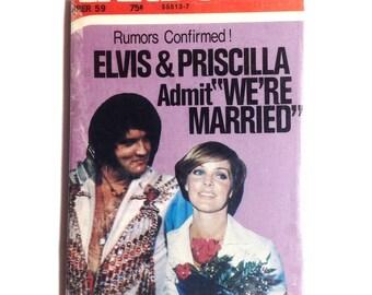 Large OOAK Elvis Magnet 'Elvis & Priscilla are Married 1976' Rare Elvis Collectable Elvis Presley Fan Elvis Gift Elvis Magnet 1970s No US-19