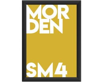 Morden Typography SM4 - Giclée Art Print - South London Poster