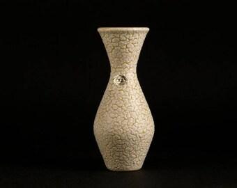 Vintage West German Vase by JASBA serie CORTINA Form 117 Yellow Mid Century Modern