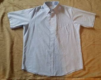 Van Heusen blue short sleeve shirt