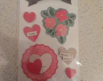 Valentine's Day Stickers Embellishments