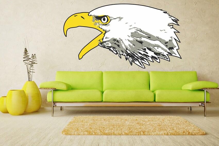 Eagle decals Eagle sticker Birds on prints Bird wall decor Bald ...