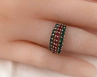 Panetta Natural Earth Emeralds Sapphires Rubies Gemstones Yellow Gold Vermeil 925 Sterling Silver Sought After Designer Hallmark
