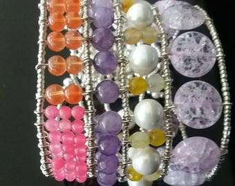 Ethnic style bracelet made by hand in Italy.