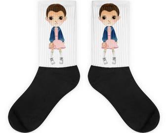 Eleven socks, Funny socks, Retro socks, Stranger socks, Stranger things socks Eleven gift Stranger things 2 gift Strange things gift