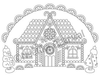 intricate christmas coloring pages - creative coloring pages for adults by neetikaa on etsy