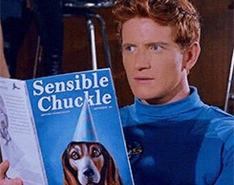 "Sensible Chuckle magazine cover / dust cover based on the ""Sensible Chuckle"" magazine portrayed in Danger 5"