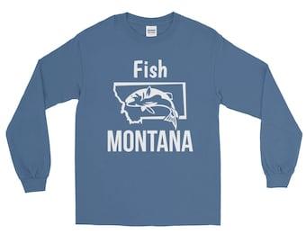 Fish Montana Fishing Long Sleeve T-shirt   Fishing Apparel