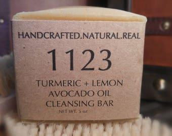 Turmeric + Lemon + Avocado Oil Cleansing Bar