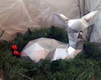 Polygonal figure Deer