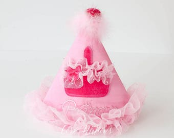 Girls Birthday Hat, Birthday Hat, Cake Smash Hat, Photo Prop Hat, 1st Birthday Hat, Cupcake Hat