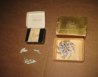 Sarah Coventry Fine Fashion Brooches & Earrings  [geo3432bt]