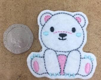set of 4 cute bear felties