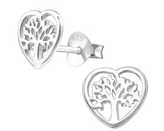 Silver Tree Of Life Studs Earrings