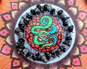 Snake Hand Painted Disc