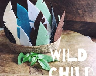 Childrens Feather Crown