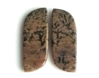 Honey Dendritic Fancy Pair Cabochon,Size- 29x10 MM, Natural Honey Dendritic, AAA,Quality  Loose Gemstone, Smooth Cabochons.