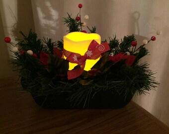 Poinsettia centerpiece