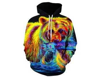 Bear Hoodie, Bear, Bear Hoodies, Animal Prints, Animal Hoodie, Animal Hoodies, Bears, Hoodie Bear, Hoodie, 3d Hoodie, 3d Hoodies - Style 3