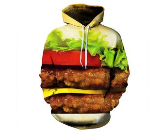Junk Food, Fast Food, Food Clothes, Junk Food Clothing, Food Hoodie, Food Clothing, Hoodie Pattern, Hamburger, Hoodie, 3d Hoodie Style 5