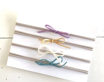 Set of 4 Mini Knotted Bows