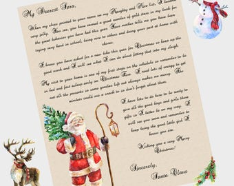 printable santa letter kids christmas behavior alert