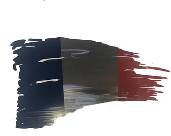 France Tattered Flag