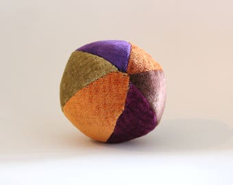 Multicolor velvet ball