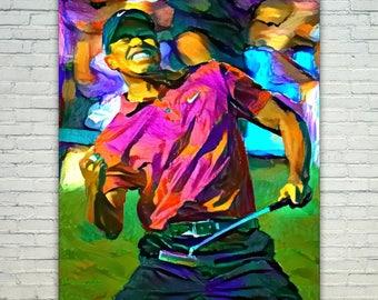 Tiger Woods - Tiger Woods Poster,Tiger Woods  Art,Tiger Woods Print,Tiger Woods Poster,Tiger Woods Merch,Tiger Woods Wall Art,Tiger Woods Fa