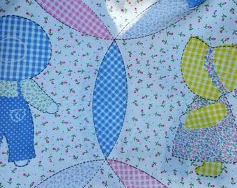 Darling Sunbonnet Sue Overall Sam style print cotton  fabric 2 1/2 yards