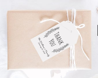 Personalized Wedding Favor Tags Printable, Rustic Thank you tags, Thank you Tags Printable, Wedding Thank you Tags, Thank you Tags Template