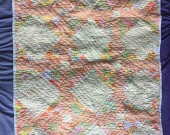 Baby Quilt Blanket, Handmade crib size