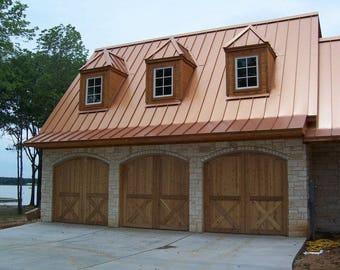 8x7 custom cedar wood garage doors