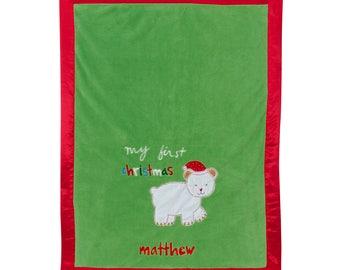 Sandra Magsamen My First Christmas Personalized Blanket