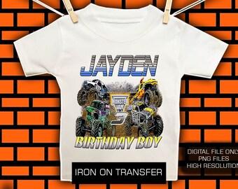 Monster Jam Iron On Transfer / Monster Jam Birthday Shirt DIY Transfer / Monster Jam Transfer / Digital file/ High Resolution