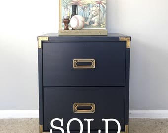 Navy Campaign End Table