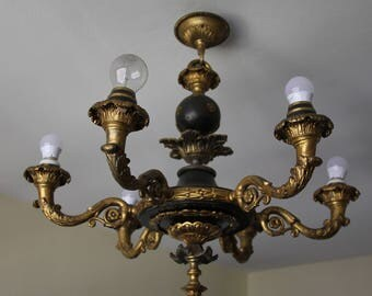 Beautiful chandelier in bronze