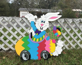 Easter Bunny Egg Car