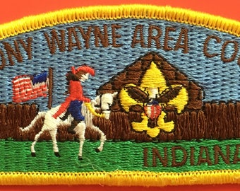 Boy Scout of America Anthony Wayne Area Council Indiana Shoulder Patch Used (E21)
