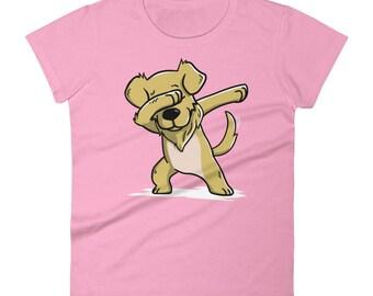 Funny Dabbing Golden Retriever Shirt, Cute Dab Dance Dog Gift, Golden Retriever Women's T-Shirt