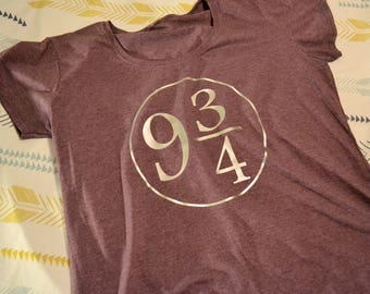 Harry Potter shirt, Platform 9 and 3/4, Adult Harry Potter shirt, Kingscross shirt