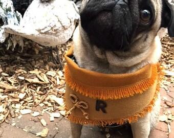 Personalized dog bandana, dog collar, pug, dog clothes, dog birthday, dog fashion, frenchie, dog owner, dog gift, valentine, wedding