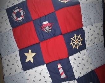 Nautical floor quilt