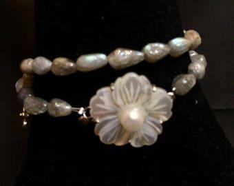 Labradorite wrap bracelet