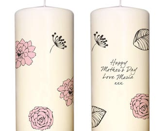 Personalised Floral Candle