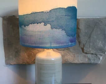 Blue Watercolour Lamp