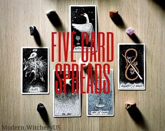 Five (5) Card Tarot Spreads