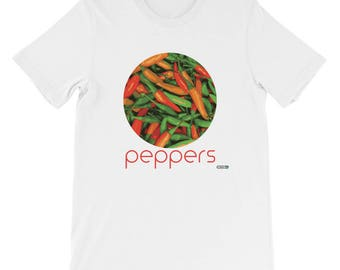 Peppers T-Shirt - Mens - Foodie - Chef - Organic
