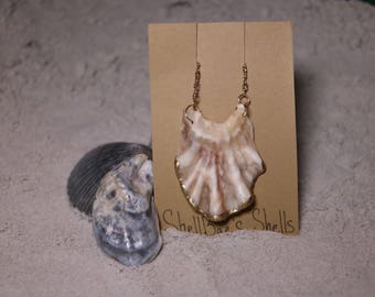 Gold Lined Oyster Shell Necklace